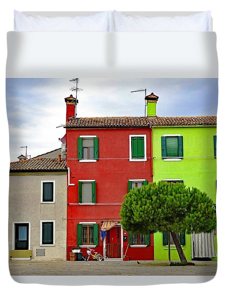 Island Of Burano Tranquility Duvet Cover
