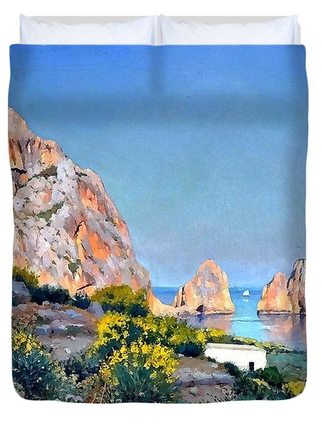 Island Of Capri - Gulf Of Naples Duvet Cover