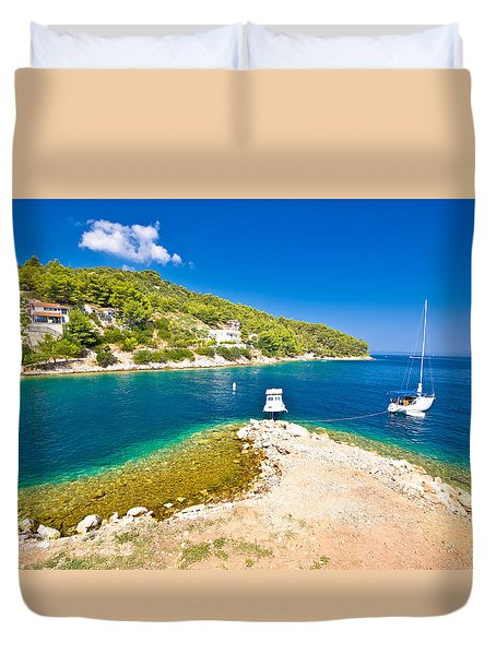 Island Of Dugi Otok Coastline Duvet Cover by Brch Photography