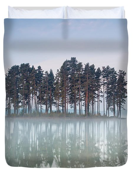 Island Of The Day Before Duvet Cover by Evgeni Dinev
