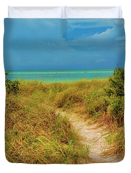 Island Path Duvet Cover
