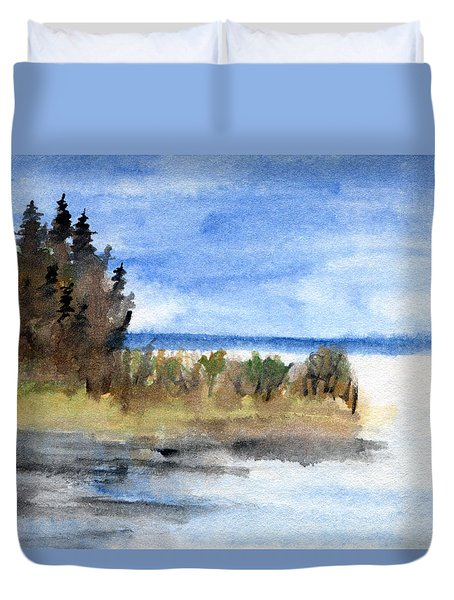 Island Point Duvet Cover by R Kyllo