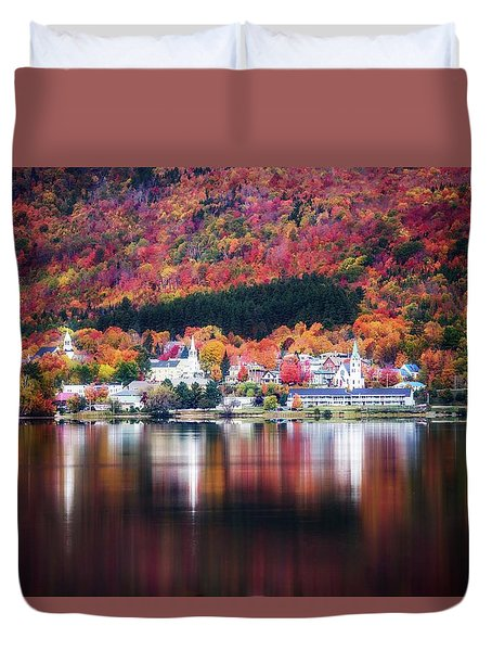 Island Pond Vermont Duvet Cover by Sherman Perry