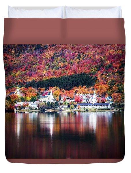 Island Pond Vermont Duvet Cover