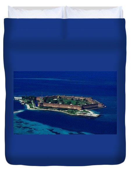 Island Prison Duvet Cover by Skip Willits