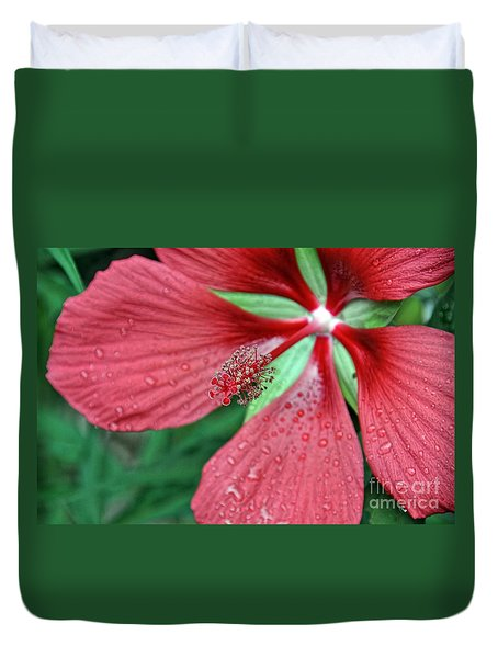 Duvet Cover featuring the photograph Island Red by Gina Savage