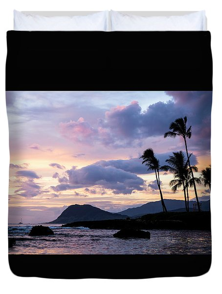 Duvet Cover featuring the photograph Island Silhouettes  by Heather Applegate
