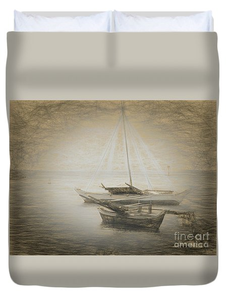 Island Sketches V Duvet Cover