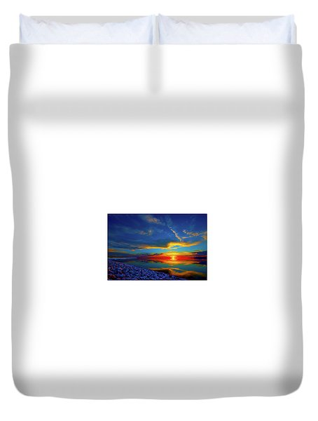 Island Sunset Duvet Cover