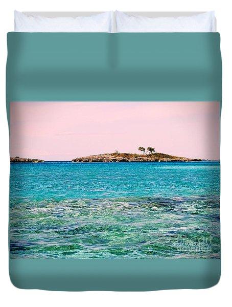 Island Tree Couple Duvet Cover