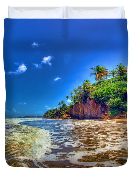 Island Wave Duvet Cover