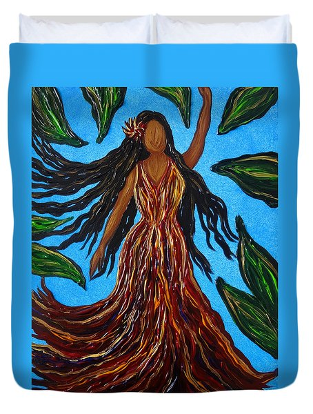 Island Woman Duvet Cover