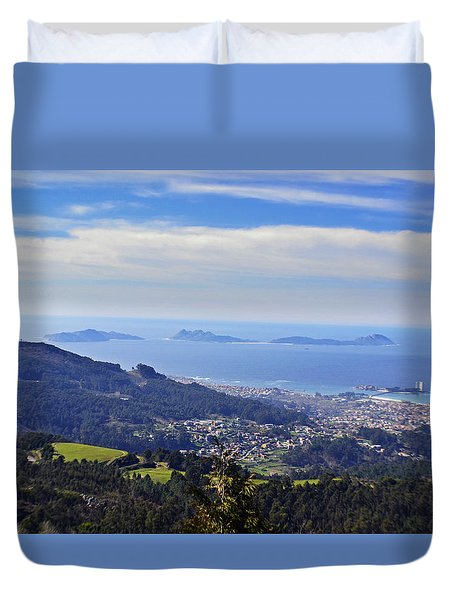 Islas Cies Duvet Cover by Taly Amoedo
