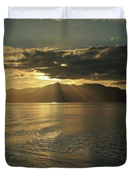 Isle Of Arran At Sunset Duvet Cover