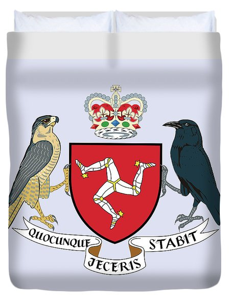 Isle Of Man Coat Of Arms Duvet Cover by Movie Poster Prints