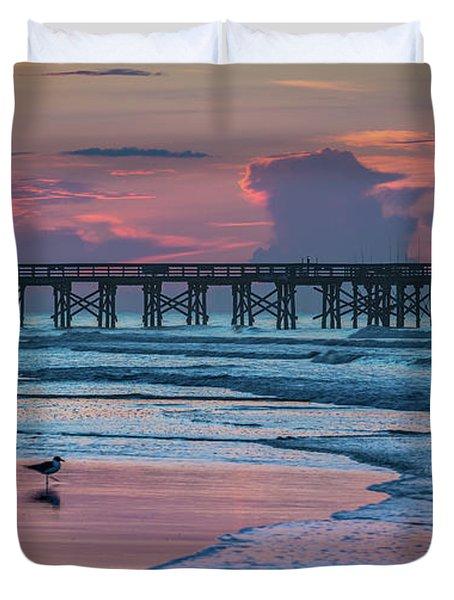 Isle Of Palms Morning Duvet Cover
