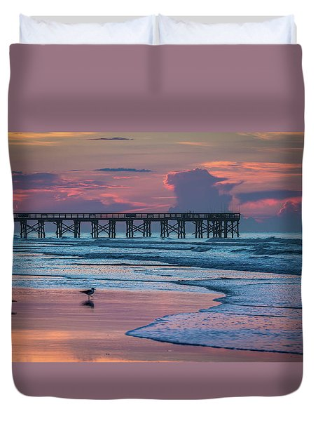 Isle Of Palms Morning Duvet Cover