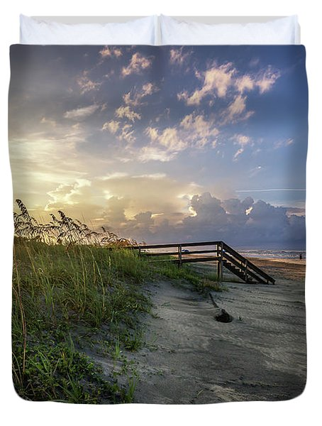 Isle Of Palms Sunstar Duvet Cover