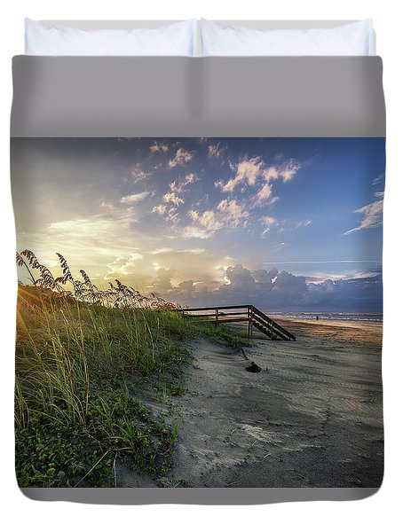 Isle Of Palms Sunstar Duvet Cover