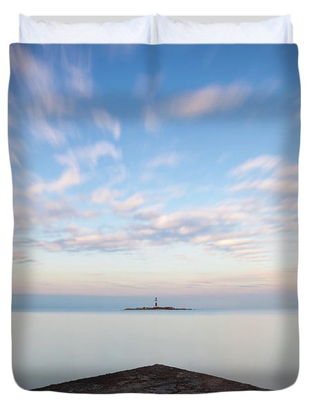 Islet Baraban With Lighthouse Duvet Cover