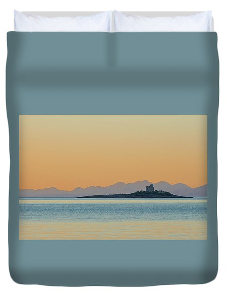 Duvet Cover featuring the photograph Islet by Davor Zerjav