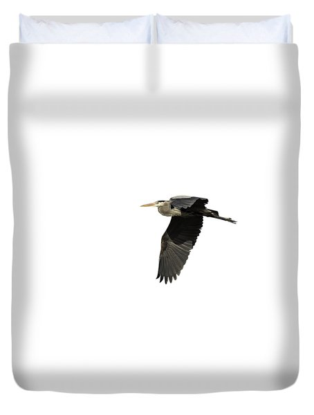 Duvet Cover featuring the photograph Isolated Great Blue Heron 2015-4 by Thomas Young