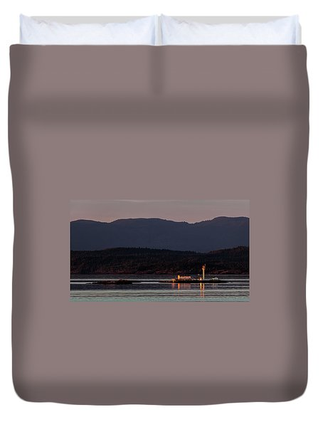 Isolated Lighthouse Duvet Cover