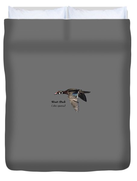 Isolated Wood Duck 2017-1 Duvet Cover