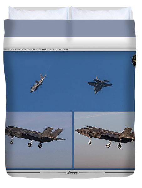 Israeli Air Force First Two F-35i Adir Duvet Cover