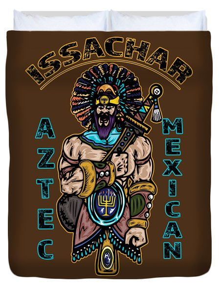 Issachar Aztec Warrior Tsd Duvet Cover