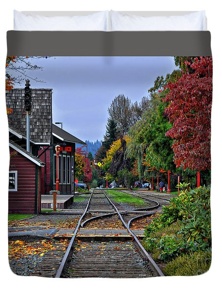 Issaquah Train Station Duvet Cover
