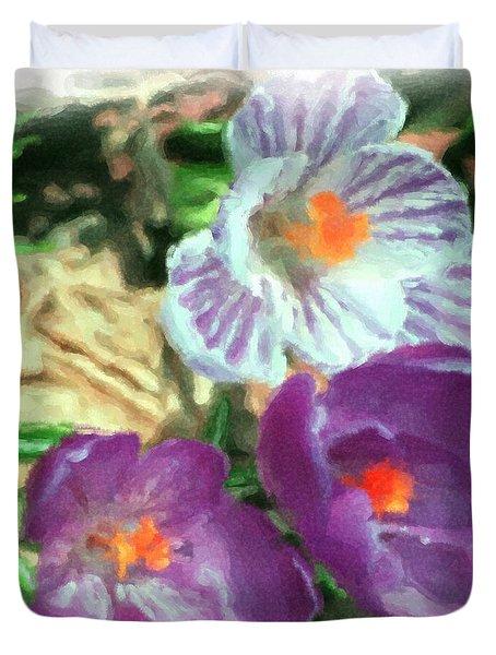 Ist Flowers In The Garden 2010 Duvet Cover by David Lane