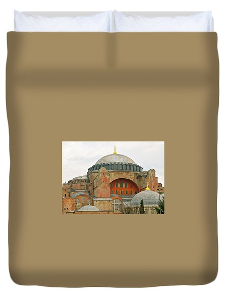 Duvet Cover featuring the photograph Istanbul Dome by Munir Alawi