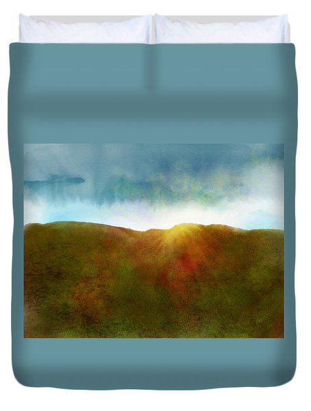 Duvet Cover featuring the digital art It Began To Dawn by Antonio Romero