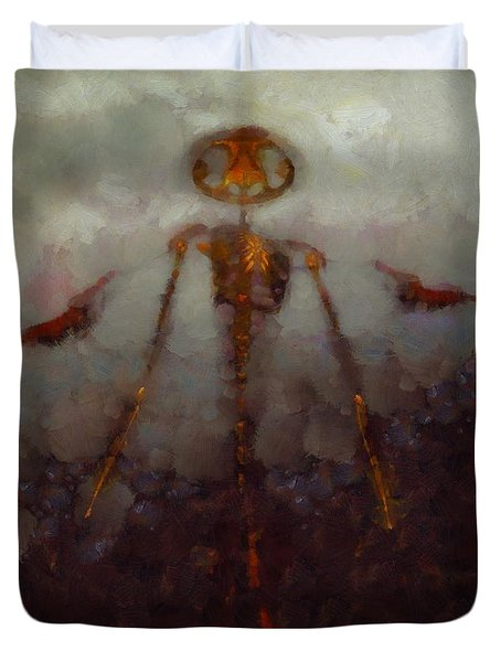 It Came From Hell Duvet Cover