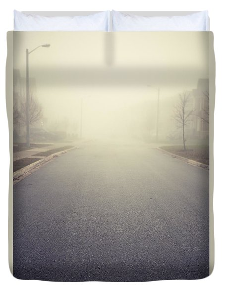 It Is Unclear What Lies Ahead Duvet Cover