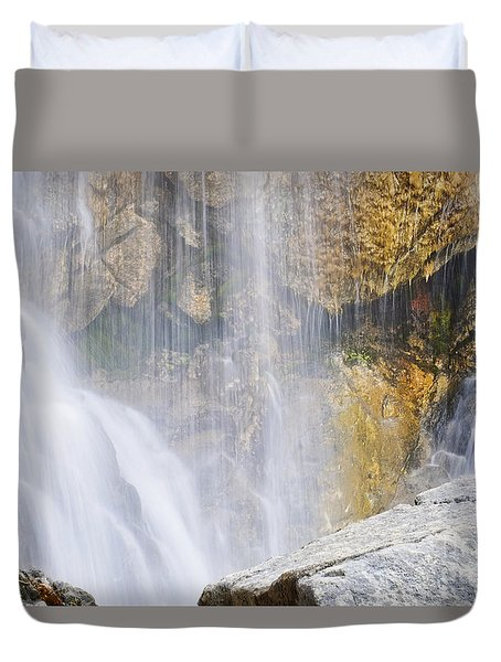 It Is Watching Duvet Cover by Janie Johnson