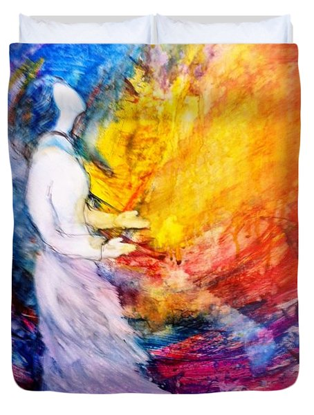 Duvet Cover featuring the painting It Is Well With My Soul by Deborah Nell