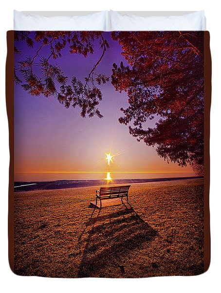 Duvet Cover featuring the photograph It Is Words With You I Seek by Phil Koch