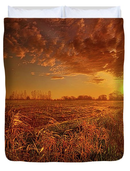 Duvet Cover featuring the photograph It Just Is by Phil Koch