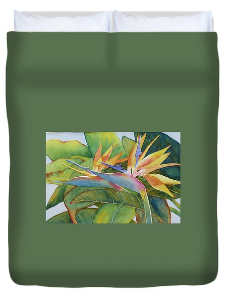 Duvet Cover featuring the painting It Takes Two by Judy Mercer