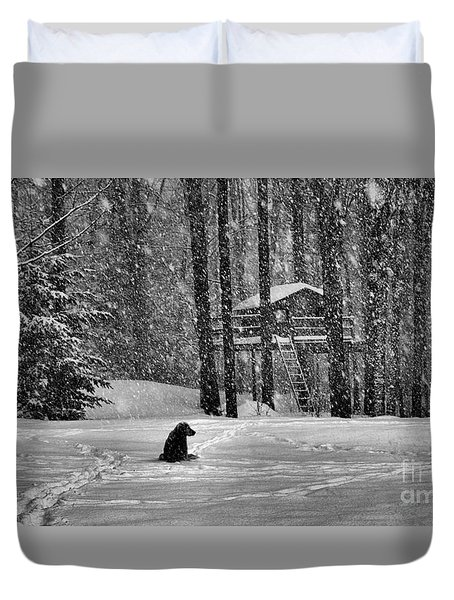 It Was A Dark And Stormy Night Duvet Cover by Elizabeth Dow