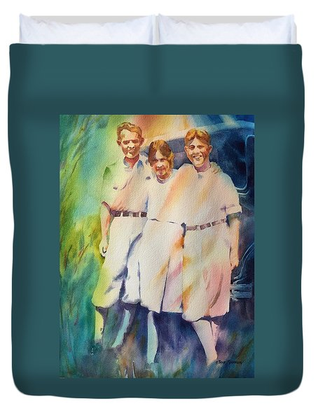 It Was Paradise Here With You Duvet Cover