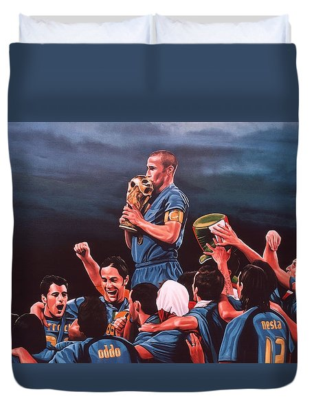 Italia The Blues Duvet Cover by Paul Meijering