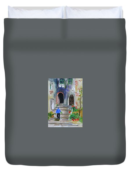 Italian Alleyway Duvet Cover