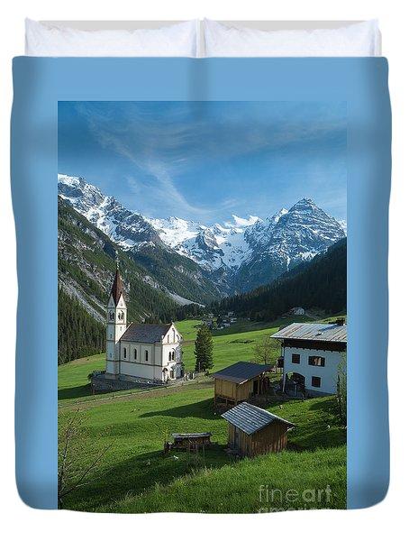 Italian Alps Hidden Treasure Duvet Cover