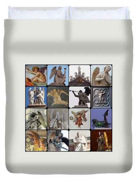 Duvet Cover featuring the photograph Italian Angels by Tim Mattox