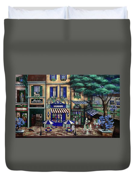 Italian Cafe Duvet Cover
