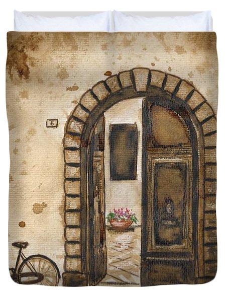 Italian Coffee Break Duvet Cover by Dianne  Ilka