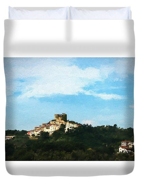 Duvet Cover featuring the photograph Italian Countryside by Kathleen Scanlan